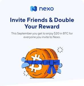 [Crypto] Doppelter KwK Bonus (20$) bei Nexo bis zum 30.09