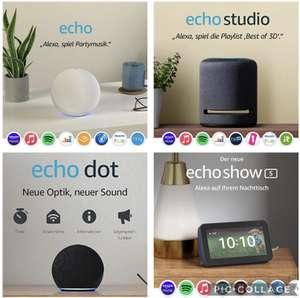 Amazon Echo Dot 4 für 29,99€ / Echo Studio für 159,99€ inkl. Versandkosten / Echo Show 5 (2. Gen.) für 54,99€ inkl. Versandkosten