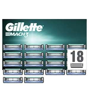 [Amazon Prime] 18 Gillette Mach3 Rasierklingen / Nur 1,19€ pro Klinge
