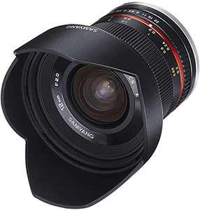 Samyang 12mm f/2 APSC Objektiv für Fuji Fujifilm X Kameras
