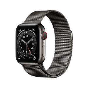 Amazon WHD: Apple Watch Series 6 (GPS + Cellular, 40 mm) Edelstahlgehäuse Graphit, Milanaise Armband Graphit
