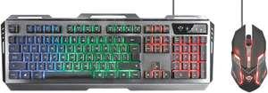 Trust GXT 845 Tural Gaming Tastatur und Maus, schwarz [Prime]