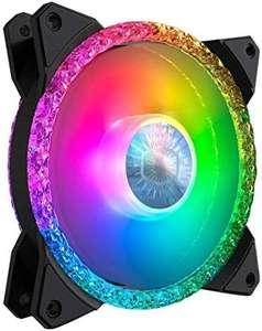 Cooler Master MasterFan MF120 Prismatic Gehäuselüfter, 120 mm, dreifacher Ring, adressierbare RGB-Beleuchtung, Kristalleffekt, leise Kühlung