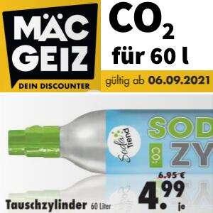 [Mäc Geiz] Soda Trend (SodaStream) CO₂-Zylinder Tausch / Füllung 425g Kohlensäure für bis zu 60 Liter