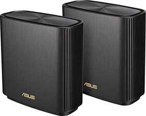 ASUS Ai Mesh AX-WLAN System ZenWiFi XT8 (2in1 Mesh Zugangspunkte-Set, AX6600 WiFi 6 Mesh-Backbone und Client-Verbindung