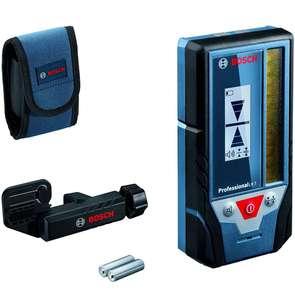 Bosch Professional Laserempfänger LR 7 Roter und Grüner Strahl, 2 x AAA Batterien, Reichweite: 5-50 m, Schutztasche (Prime)