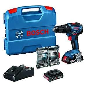 [WHD & Prime] Bosch Professional 18V System Akku Schlagbohrschrauber GSB 18V-55 (2x 2,0 Ah Akku, 35tlg. Impact Zubehör; SEHR GUT ab 148€)