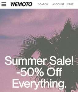 Summer Sale bei Wemoto [50% auf ALLES + 15% Newsletter Gutschein] Organic Cotton/Vegan/Fairtrade