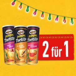 [COUPIES] 2 für 1 Pringels Tortilla Chips (10x Einlösbar)