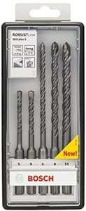 Bosch Professional 5tlg. Robust Line Hammerbohrer SDS Plus-5 Set für Beton, Zubehör Borhammer (Prime Gratis Lieferung)
