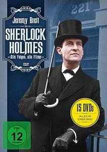 Sherlock Holmes - Alle Folgen, alle Filme (15 DVDs) für 21,97€ (Amazon Prime)