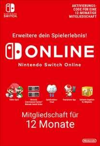 12 Monate Nintendo Switch Online Mitgliedschaft für 14,61€ (365 Tage, Faktor 0.73)