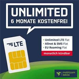 [6 Monate] mobilcom-debitel o2 Free Unlimited Basic (unbegrenzt LTE 2 Mbit/s) für mtl. ca. 6,67€ + Allnet- & SMS-Flat, VoLTE & WLAN Call