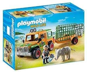 PLAYMOBIL Wild Life 6937 Rangergeländewagen mit Anhänger, Ab 4 Jahren [Prime oder Abholstation]