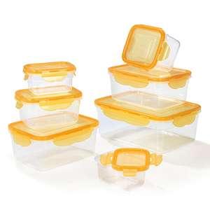 HOBERG Frischhaltedosen 14-tlg. (7 Dosen) mit 4-fach-Klick-Verschluss (mango)