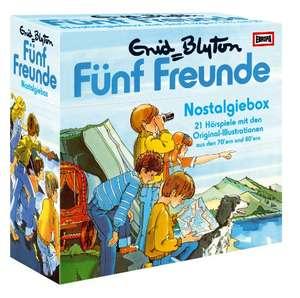 Fünf Freunde - Nostalgiebox (21 Hörspiele mit den Original-Illustrationen aus den 70'ern & 80'ern) [Hörbuch-CD]