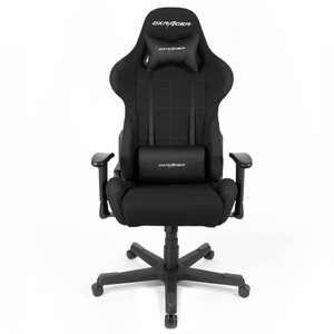 DXRacer Formula Gaming Stuhl OH-FD01-N schwarz (Rückenlehne bis 135° verstellbar)