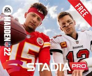 Madden NFL 22 (Stadia Pro) kostenlos spielen vom 09. September bis zum 13. September