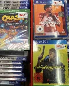 Lokal Wuppertal - XBox Crash Bandicoot 4 -> 20€ ; PS4 Cyberpunk 2077 Day 1 Ed. -> 20€ ; Playstation 4 Madden NFL 20 -> 3€ - Media Markt