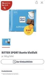 [lokal berlin] Ritter Sport Schokolade für nur 0,69 Euro statt 1, 19 Euro