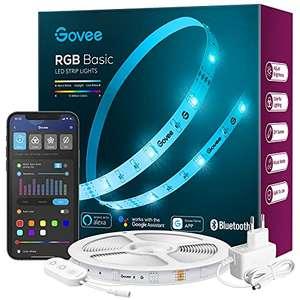 [Prime] Govee RGB Basic 5m LED-Streifen (12W, WLAN, Bluetooth, App, Alexa & Google Assistant)