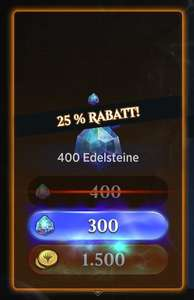 [MTG Arena] 400 Gems zum Preis von 300 Gems bzw. 1500 Gold