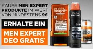[dm] Gratis L'ORÉAL Men Expert Deo beim Kauf von Men Expert Produkten für mind. 9 €