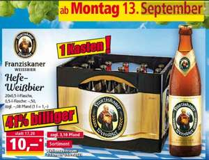 [Norma] Franziskaner Hefe Weißbier 1 Kasten 20 x 0,5 L
