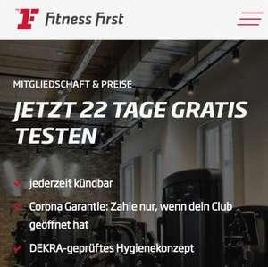 Fitness First: 22 Tage gratis testen (Danach Kündigung erforderlich)
