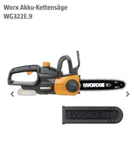 Worx Akku-Kettensäge WG322E.9 (ohne Akku), 20 V, Li-Ionen, 2 Ah, Schwert: 25 cm, 5 Jahre Garantie