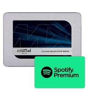 Crucial MX500 1TB SATA SSD TLC inkl. 10€ Spotify Premium Gutschein