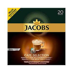 (7ct pro Kapsel!) Jacobs Kaffeekapseln Café Selection- 200 Nespresso®* kompatible Kapseln, 10er Pack (10 x 20 Getränke),