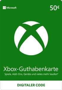 50€ Xbox-Guthabenkarte für 43,32€ (für den europäischen Microsoft Store, Faktor 0.866)