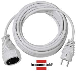 Brennenstuhl Verlängerungskabel 10m mit Schutzkontakt-Stecker und -Kupplung weiß für 9,99€ mit Prime / 3m mit bel. Schalter für 6,99€