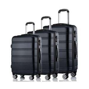 Koffer-Set LINE 3-teilig Kunststoff schwarz