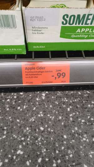 Aldi Süd lokal Alzey 4 x 0.33 Sommersby Apple Cider für 0.99€