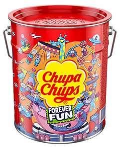 Chupa Chups Best of Lollipop-Eimer, 150 Lutscher in der Aufbewahrungsdosen (SparAbo bis 12,74€)