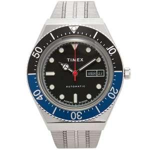 """Timex Q Reissue M79 Automatik Uhr - Edelstahl, 40mm - """"Batman"""""""