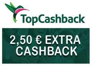 [TopCashback] 2,50€ Bonus für einen Einkauf mit 5€ MBW (Neu- und Bestandskunden - alle Händler)