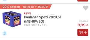 [REWE SH] Paulaner Spezi 20x0,5l Kasten für 9,99€