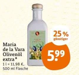 [Lokal] Tegut... Maria de la Vara Olivenöl 500ml