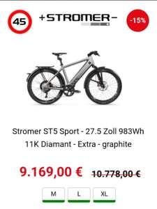 Stromer ST5 Sport - 27.5 Zoll 983Wh 11K Diamant - Extra - graphite
