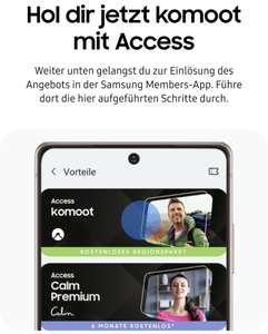 Samsung Galaxy - Komoot Aktionscode für ein Regionen-Paket im Wert von 8,99 EUR