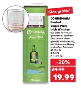 Connemara Peated Single Malt Whiskey Whisky 40% 0,7l 40% + Tumbler Glas in manchen Kaufland Fillialen