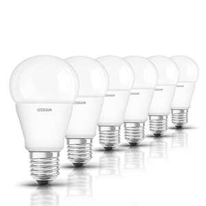 Osram LED Star Classic A Lampe E27-Sockel, nicht dimmbar, Ersetzt 75 Watt, Matt, Kaltweiß - 4000 Kelvin, 6er-Pack [Energieklasse A+] @Prime