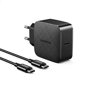 [Amazon Prime] UGREEN 65W USB-C Ladegerät mit 2m Ladekabel (USB-C, Netzteil PD Adapter mit PPS, GaN Tech, PD 3.0/2.0, Quick Charge 4.0/3.0 )