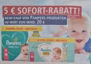 Real 5 Euro Sofortrabatt beim Kauf von Pampers Produkten im Wert von mind. 20 Euro ab 13.09