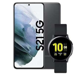 Samsung Galaxy S21 & Watch Active 2 für 29,98€ ZZ mit Telekom Magenta Mobil S Young MagentaEINS (18GB, StreamOn, eff. 2,80€ nach Verkauf)