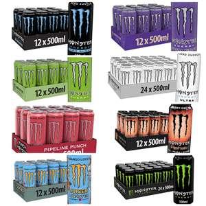 12 / 24er Palette 500 ml Monster Energy Dosen Zero/mit Zucker verschiedene Sorten, mit 5er Sparabo 77 Cent pro Dose möglich - Prime*Sparabo*