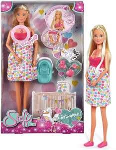 Simba 105733480 - Steffi Love Babyglück, Schwangere Puppe mit Baby und tollen Sounds[PRIME]